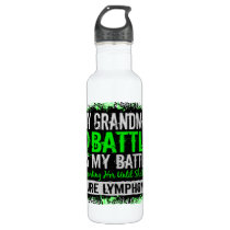 My Battle Too 2 Lymphoma Grandma Stainless Steel Water Bottle