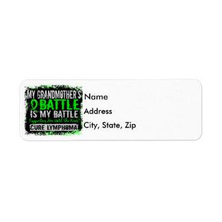 My Battle Too 2 Lymphoma Grandmother Label