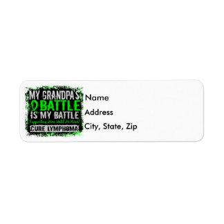 My Battle Too 2 Lymphoma Grandpa Label