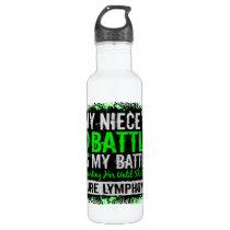 My Battle Too 2 Lymphoma Niece Water Bottle
