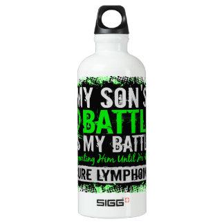 My Battle Too 2 Lymphoma Son Aluminum Water Bottle