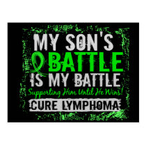 My Battle Too 2 Lymphoma Son Postcard