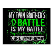 My Battle Too 2 Lymphoma Twin Brother Postcard