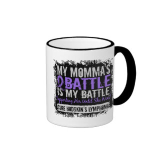 My Battle Too 2 Momma Hodgkins Lymphoma Mugs