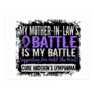 My Battle Too 2 Mother-In-Law Hodgkins Lymphoma Postcard