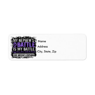My Battle Too 2 Nephew Hodgkins Lymphoma Return Address Label
