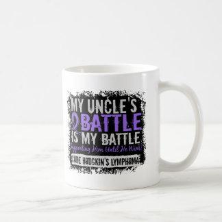 My Battle Too 2 Uncle Hodgkins Lymphoma Coffee Mugs