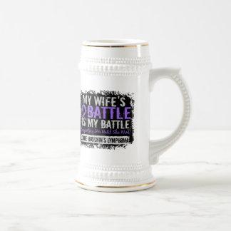 My Battle Too 2 Wife Hodgkins Lymphoma Mug