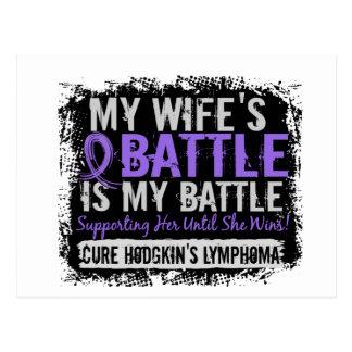 My Battle Too 2 Wife Hodgkins Lymphoma Postcard
