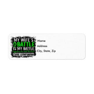 My Battle Too 2 Wife Lymphoma Label