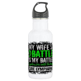 My Battle Too 2 Wife Lymphoma Water Bottle