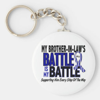 My Battle Too ALS Brother-In-Law Basic Round Button Keychain