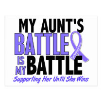 My Battle Too Aunt Esophageal Cancer Postcard
