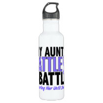 My Battle Too Aunt Esophageal Cancer Water Bottle