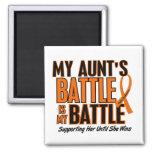 My Battle Too Aunt Leukemia Refrigerator Magnets