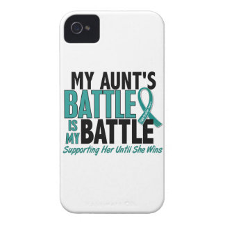 My Battle Too Aunt Ovarian Cancer Case-Mate iPhone 4 Case
