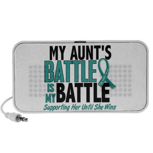 My Battle Too Aunt Ovarian Cancer iPhone Speaker