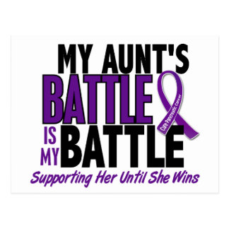 My Battle Too Aunt Pancreatic Cancer Postcard