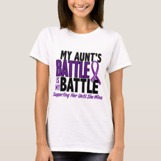 My Battle Too Aunt Pancreatic Cancer T-Shirt