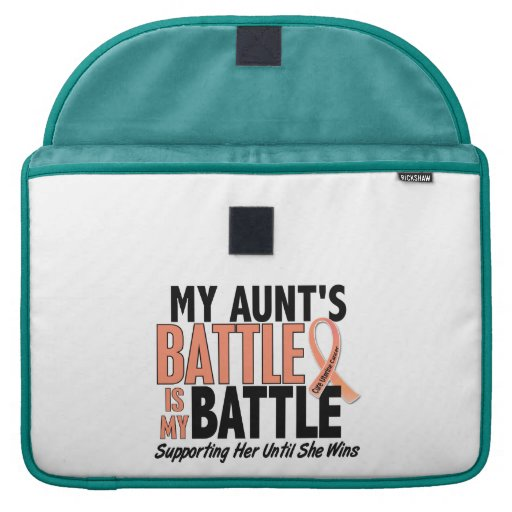 My Battle Too Aunt Uterine Cancer MacBook Pro Sleeve