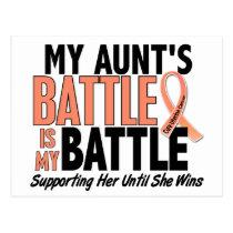 My Battle Too Aunt Uterine Cancer Postcard