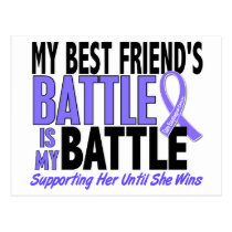 My Battle Too Best Friend (Female) Esophageal Canc Postcard