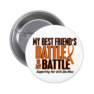 My Battle Too Best Friend Leukemia 2 Inch Round Button