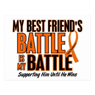 My Battle Too Best Friend Leukemia Postcard