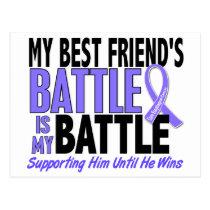 My Battle Too Best Friend (Male) Esophageal Cancer Postcard