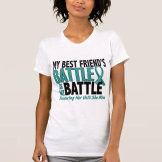 My Battle Too Best Friend Ovarian Cancer T-Shirt