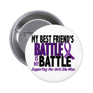 My Battle Too Best friend Pancreatic Cancer Pinback Button