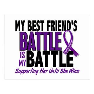 My Battle Too Best friend Pancreatic Cancer Postcard