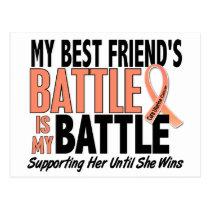 My Battle Too Best Friend Uterine Cancer Postcard
