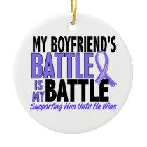 My Battle Too Boyfriend Esophageal Cancer Ceramic Ornament