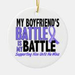 My Battle Too Boyfriend Esophageal Cancer Christmas Ornament