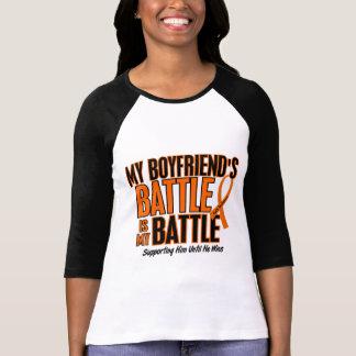 My Battle Too Boyfriend Leukemia Shirt