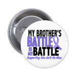 My Battle Too Brother Esophageal Cancer Pinback Buttons