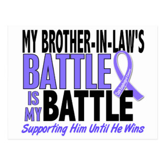 My Battle Too Brother-In-Law Esophageal Cancer Postcard