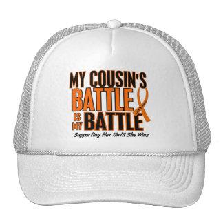 My Battle Too Cousin Leukemia Trucker Hat