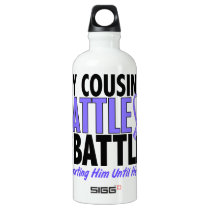 My Battle Too Cousin (Male) Esophageal Cancer Water Bottle