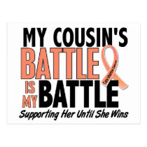 My Battle Too Cousin Uterine Cancer Postcard