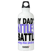 My Battle Too Dad Esophageal Cancer Aluminum Water Bottle