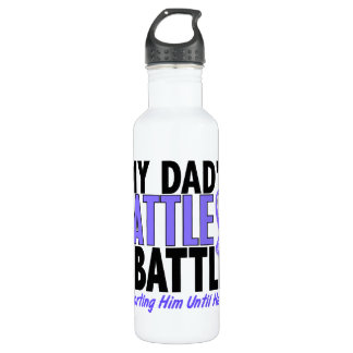 My Battle Too Dad Esophageal Cancer Stainless Steel Water Bottle