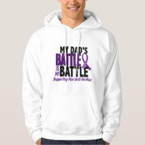 My Battle Too Dad Pancreatic Cancer Hoodie