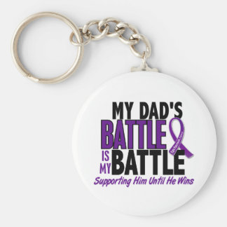 My Battle Too Dad Pancreatic Cancer Keychain