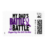 My Battle Too Dad Pancreatic Cancer Postage Stamps