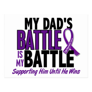 My Battle Too Dad Pancreatic Cancer Postcard