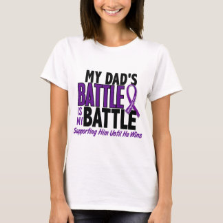 My Battle Too Dad Pancreatic Cancer T-Shirt