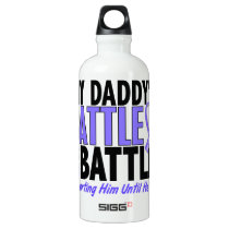 My Battle Too Daddy Esophageal Cancer Aluminum Water Bottle
