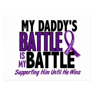 My Battle Too Daddy Pancreatic Cancer Postcard